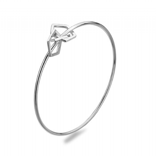Silver Multi Pentagon Bangle